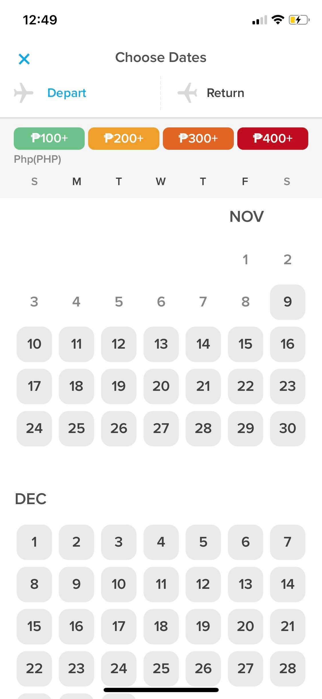 Calendar on iOS by Hopper from UIGarage