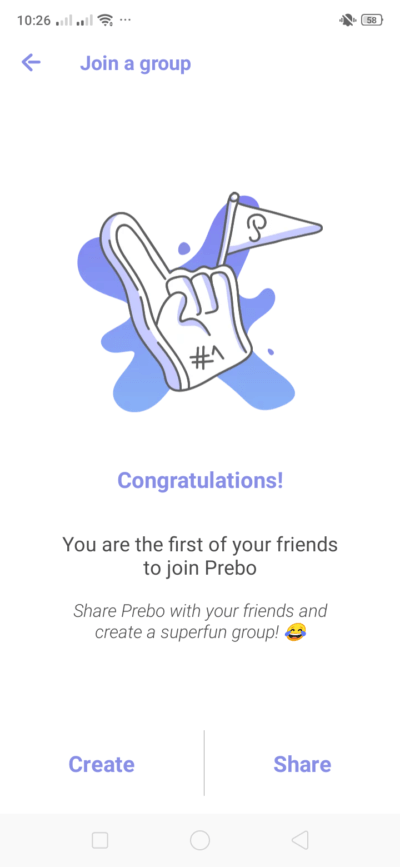 Congratulations Screen on Android by Prebo from UIGarage
