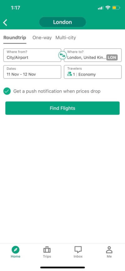 Find Flights on iOS by TripAdvisor from UIGarage