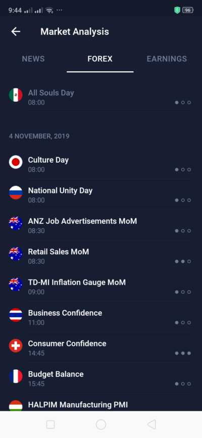 Forex on Android by IQ Options from UIGarage