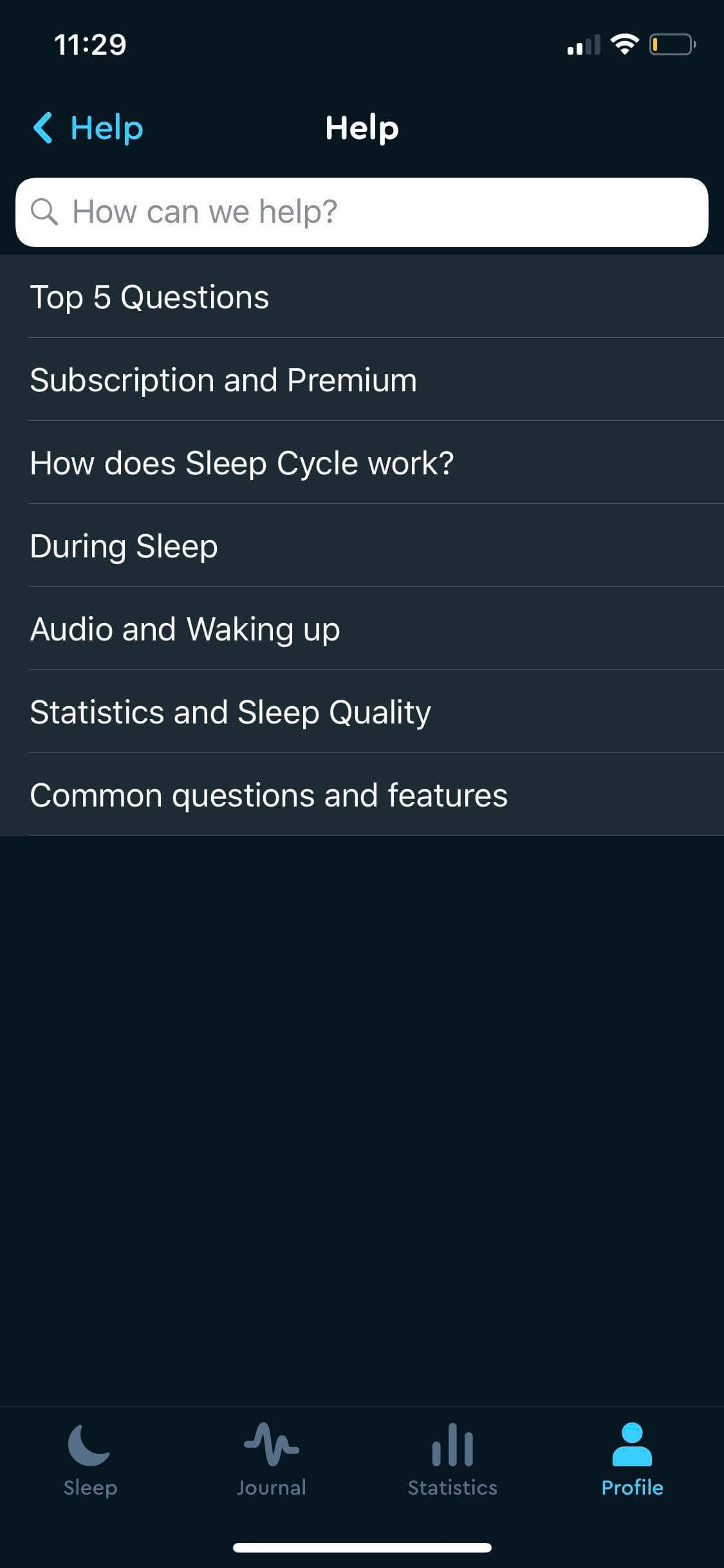 Help on iOS by Sleep Cycle