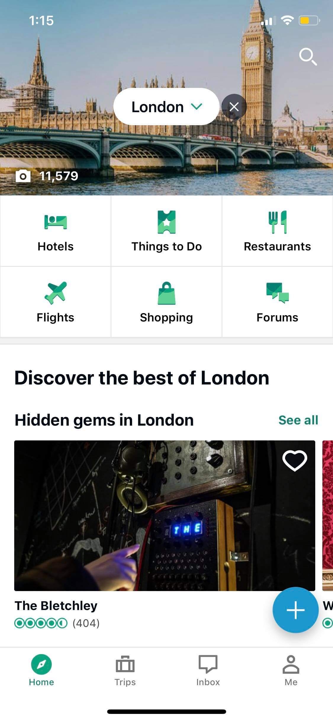 Home on iOS by TripAdvisor from UIGarage