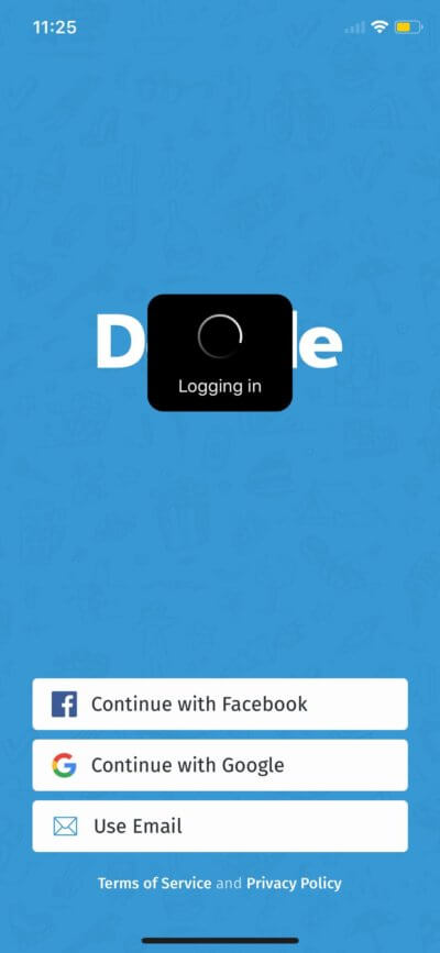 Loading on iOS by Doodle from UIGarage