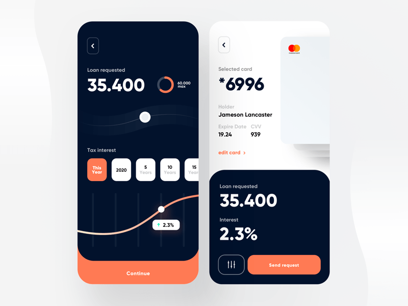 Loan App Design from UIGarage