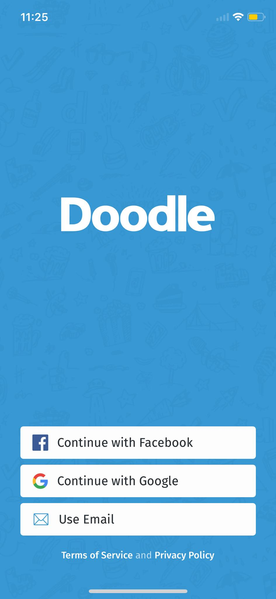 Login on iOS by Doodle
