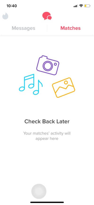 Matches on iOS by Tinder from UIGarage