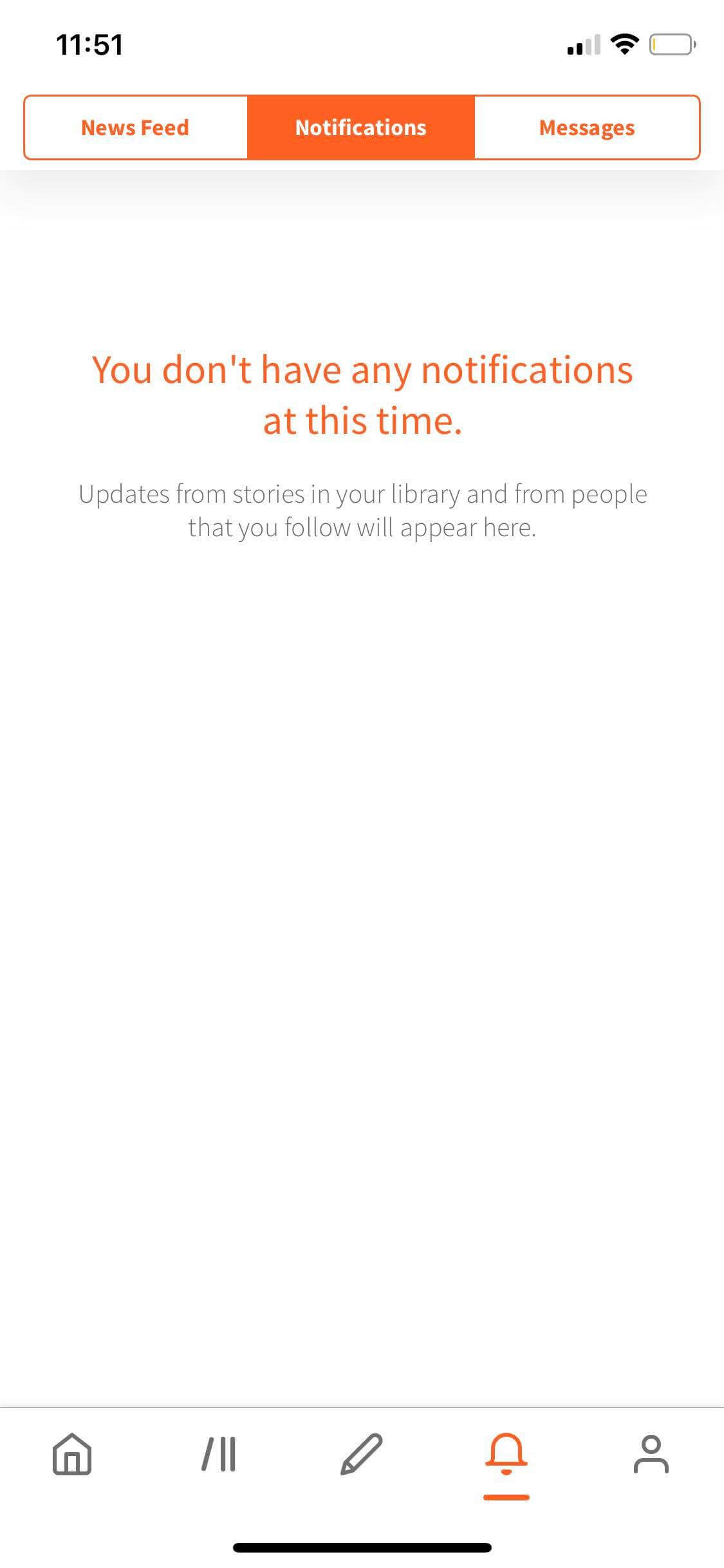 Notifications on iOS by Wattpad from UIGarage