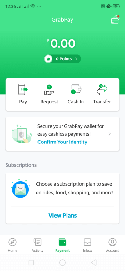 Payment on Android by Grab from UIGarage