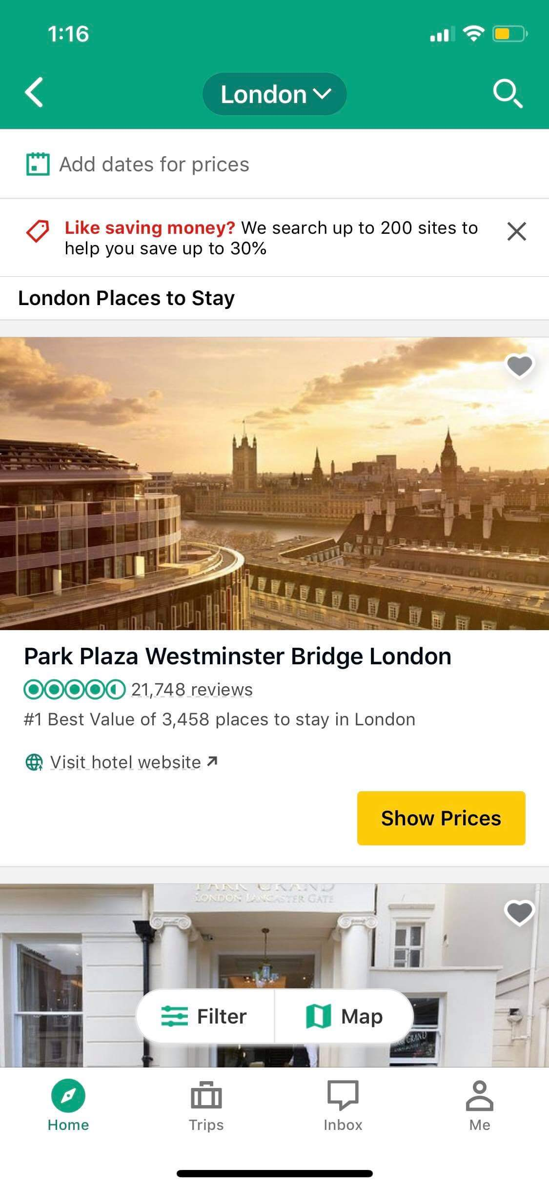 Places to Stay on iOS by TripAdvisor from UIGarage