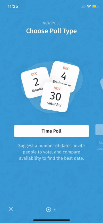 Poll Type on iOS by Doodle from UIGarage