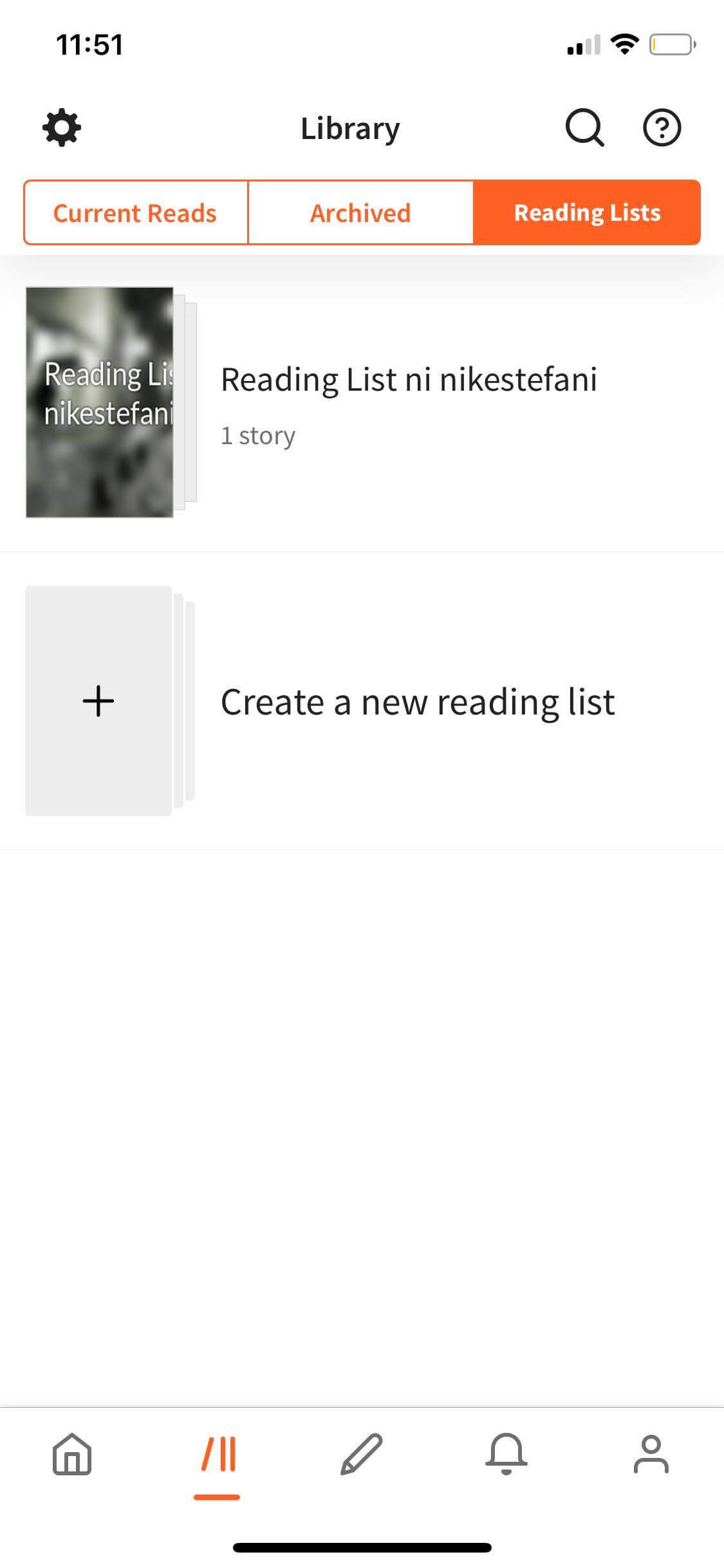 Walkthrough on iOS by Wattpad from UIGarage