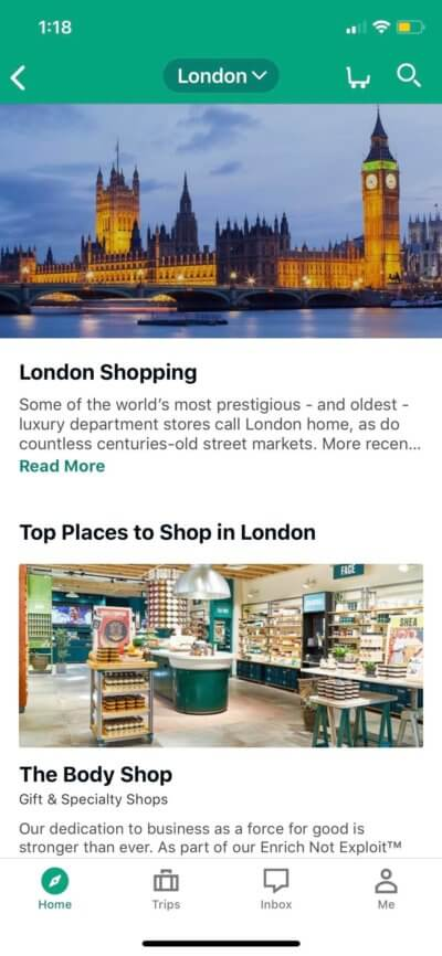 Shopping on iOS by TripAdvisor from UIGarage