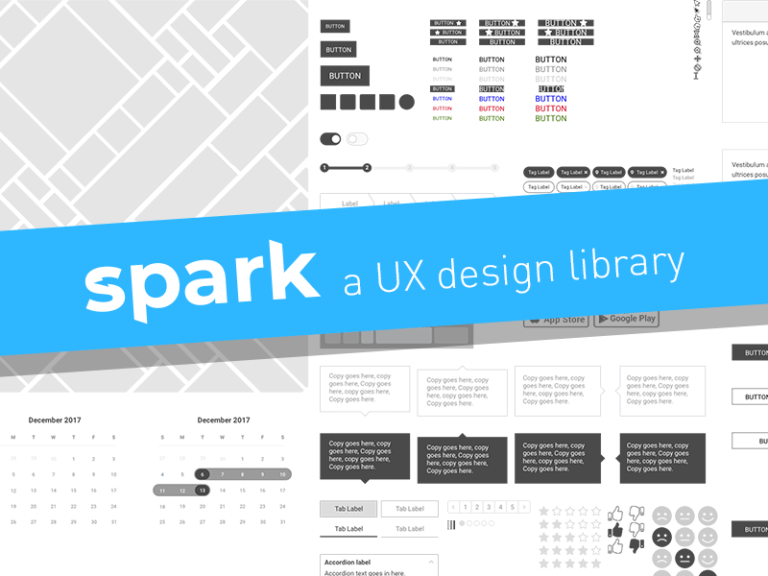 Sketch UX Design Library – Spark from UIGarage