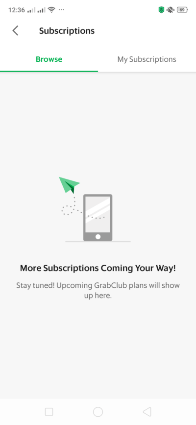 Subscriptions on Android by Grab from UIGarage