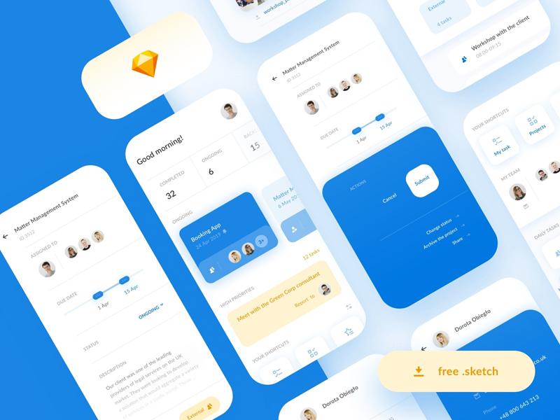 Team Management App Kit from UIGarage