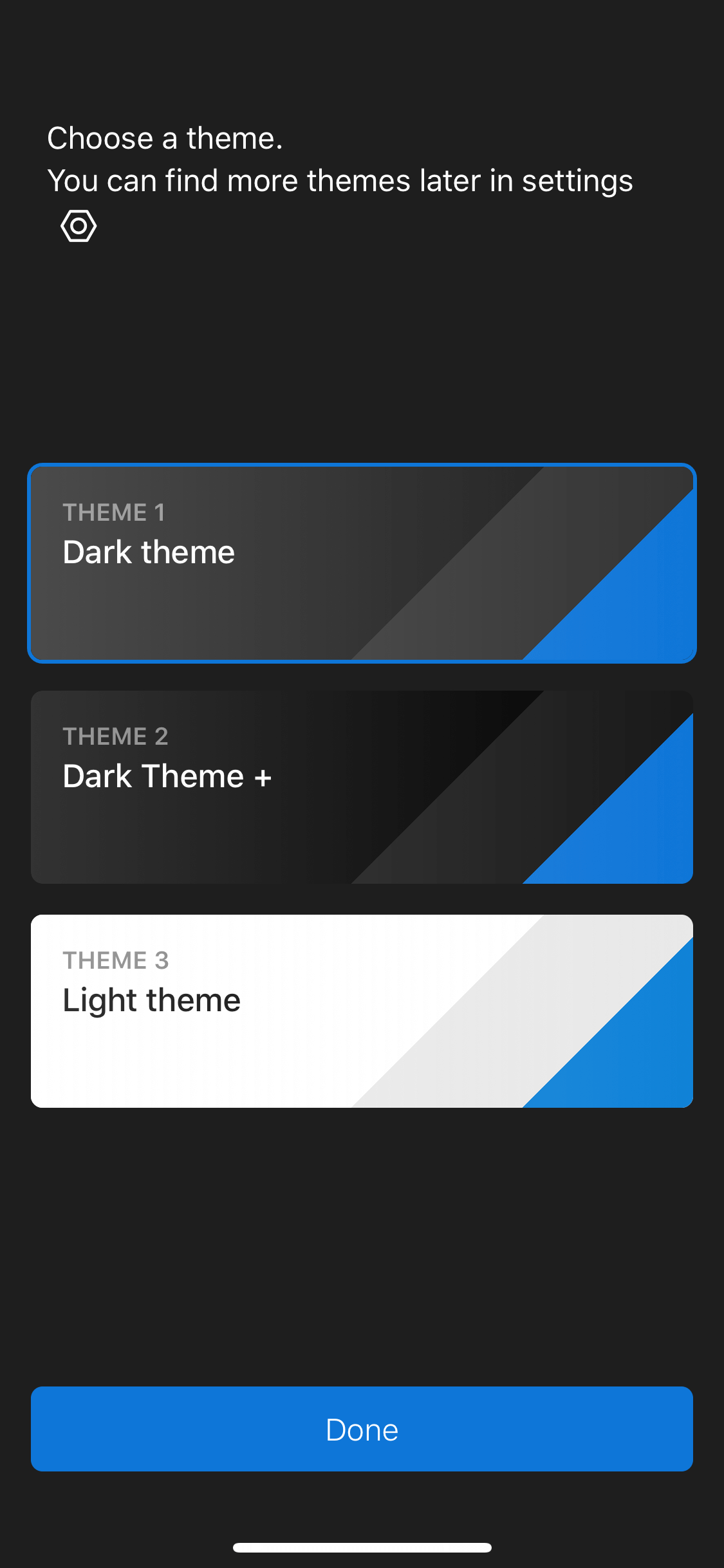 Theme Picker on iOS by Polarr