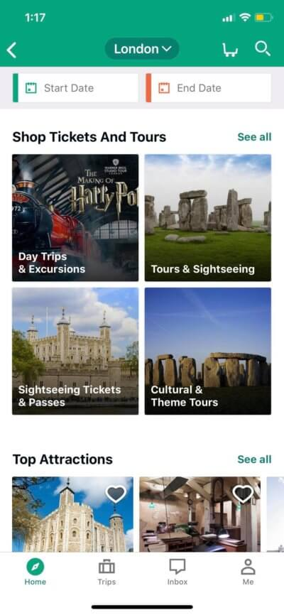 Tickets on iOS by Tripadvisor from UIGarage