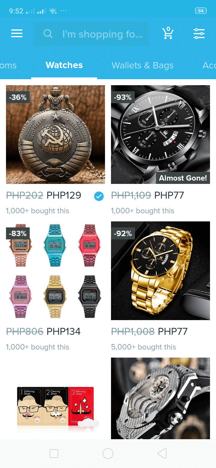 Watches on Android by Wish from UIGarage
