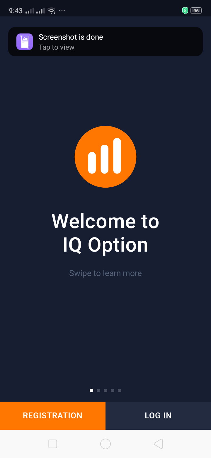 Welcome on Android by IQ Options from UIGarage