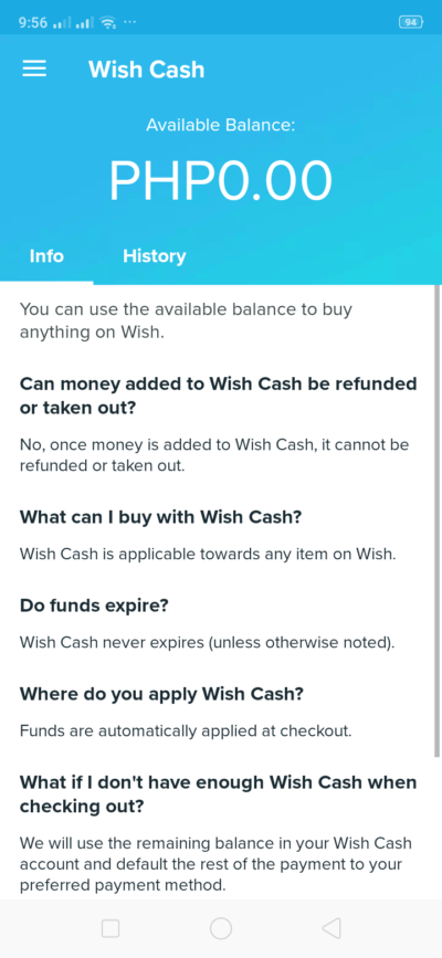 Cash on Android by Wish from UIGarage