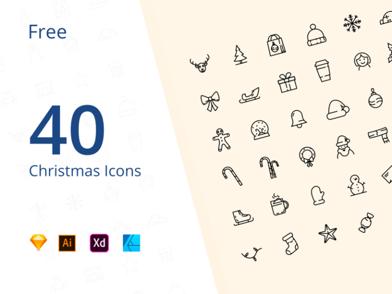 40 Christmas Icons for 2019 from UIGarage
