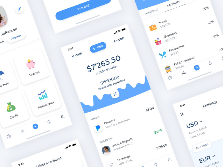 Banking App Design from UIGarage