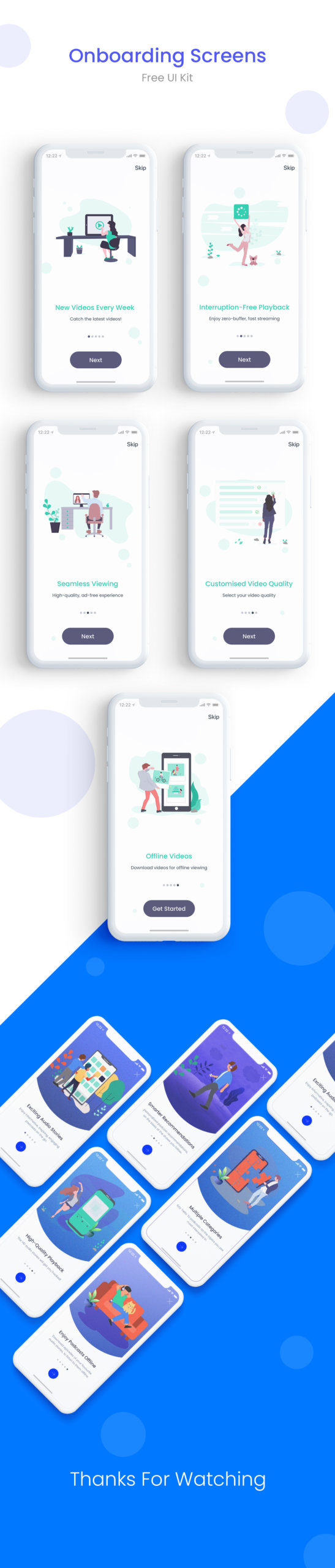 App Onboarding Walkthrough Screens from UIGarage