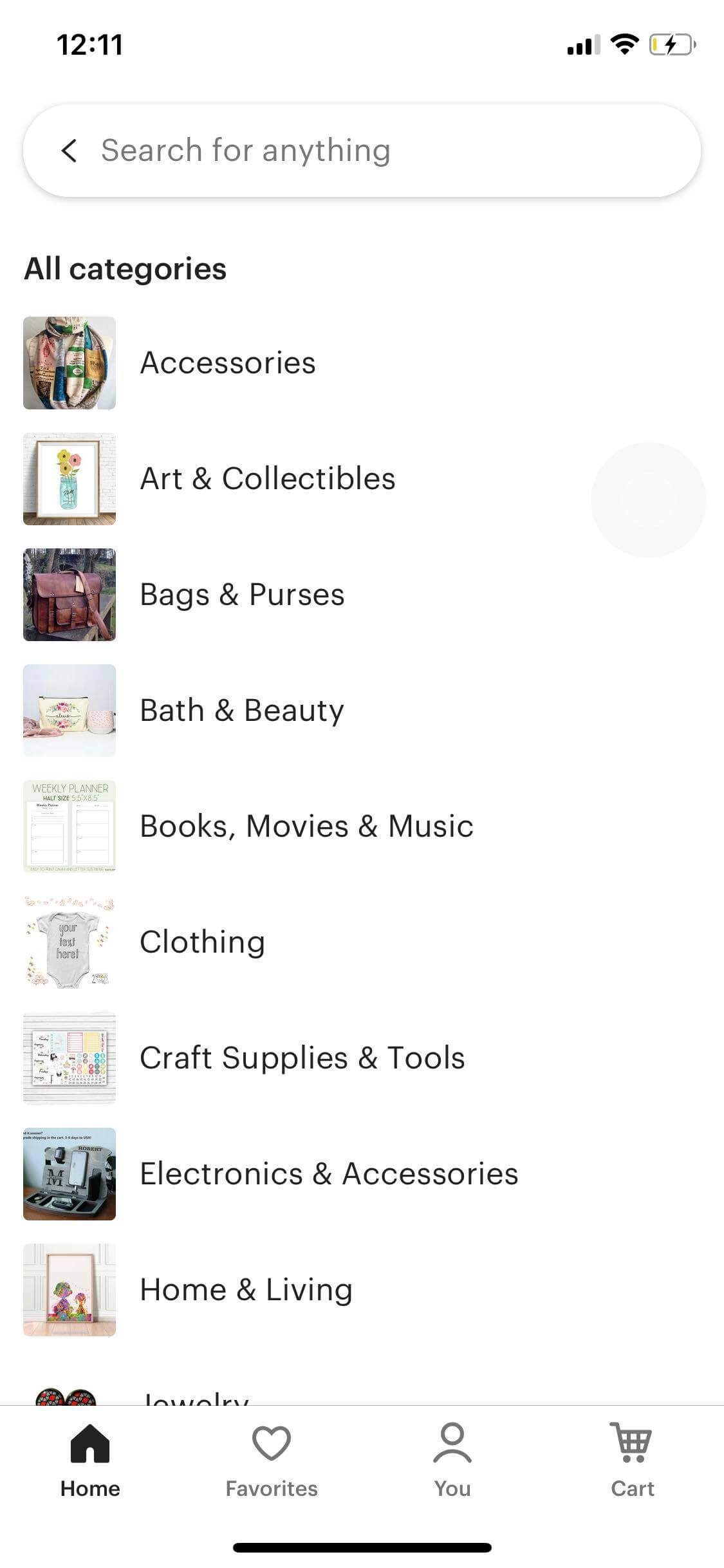 Categories on iOS by Etsy from UIGarage