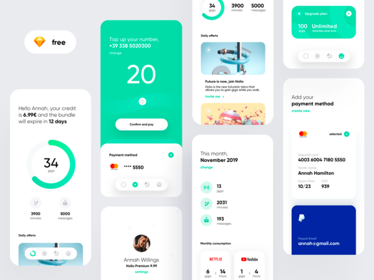 Telephone Company App Concept – Holio from UIGarage