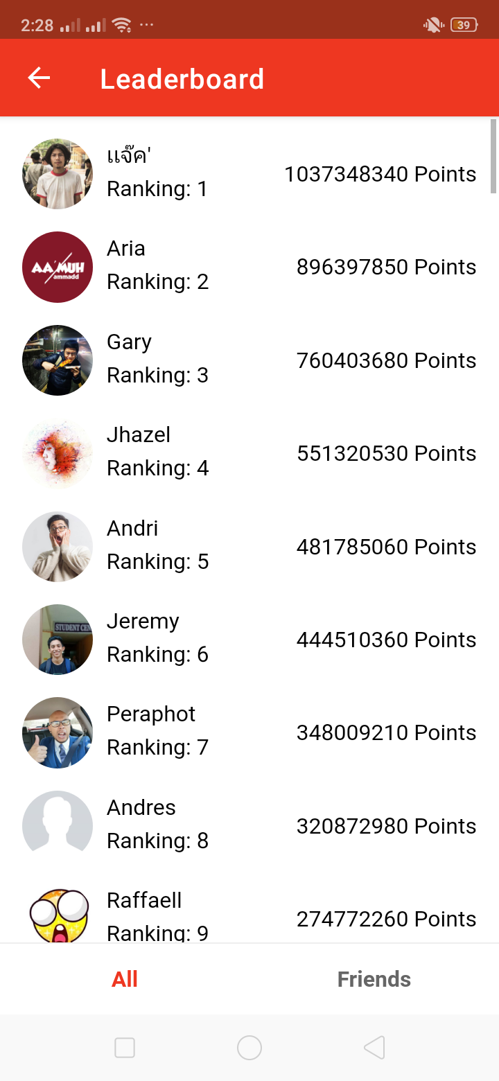 Leaderboard on Android by BuzzBreak from UIGarage