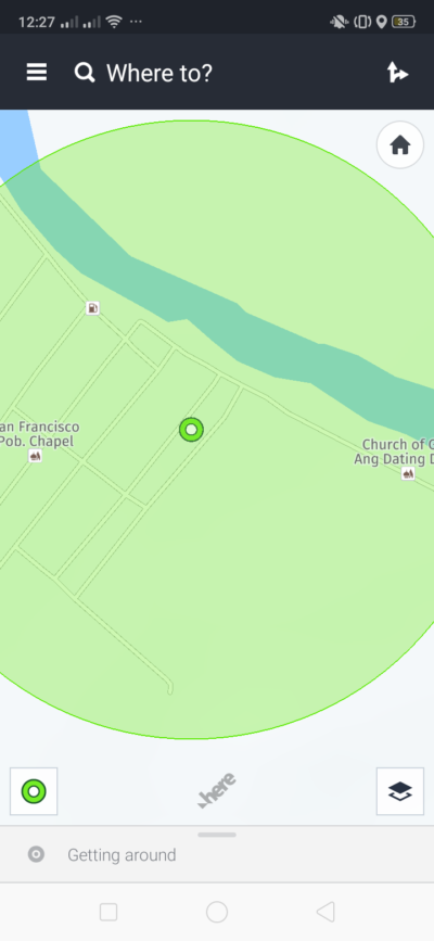 Maps on Android by Here from UIGarage