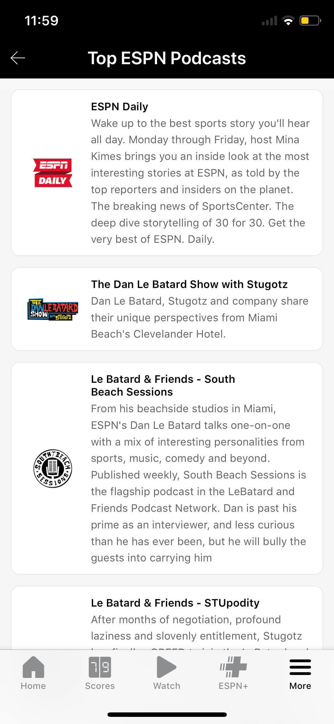 Podcasts on iOS by ESPN