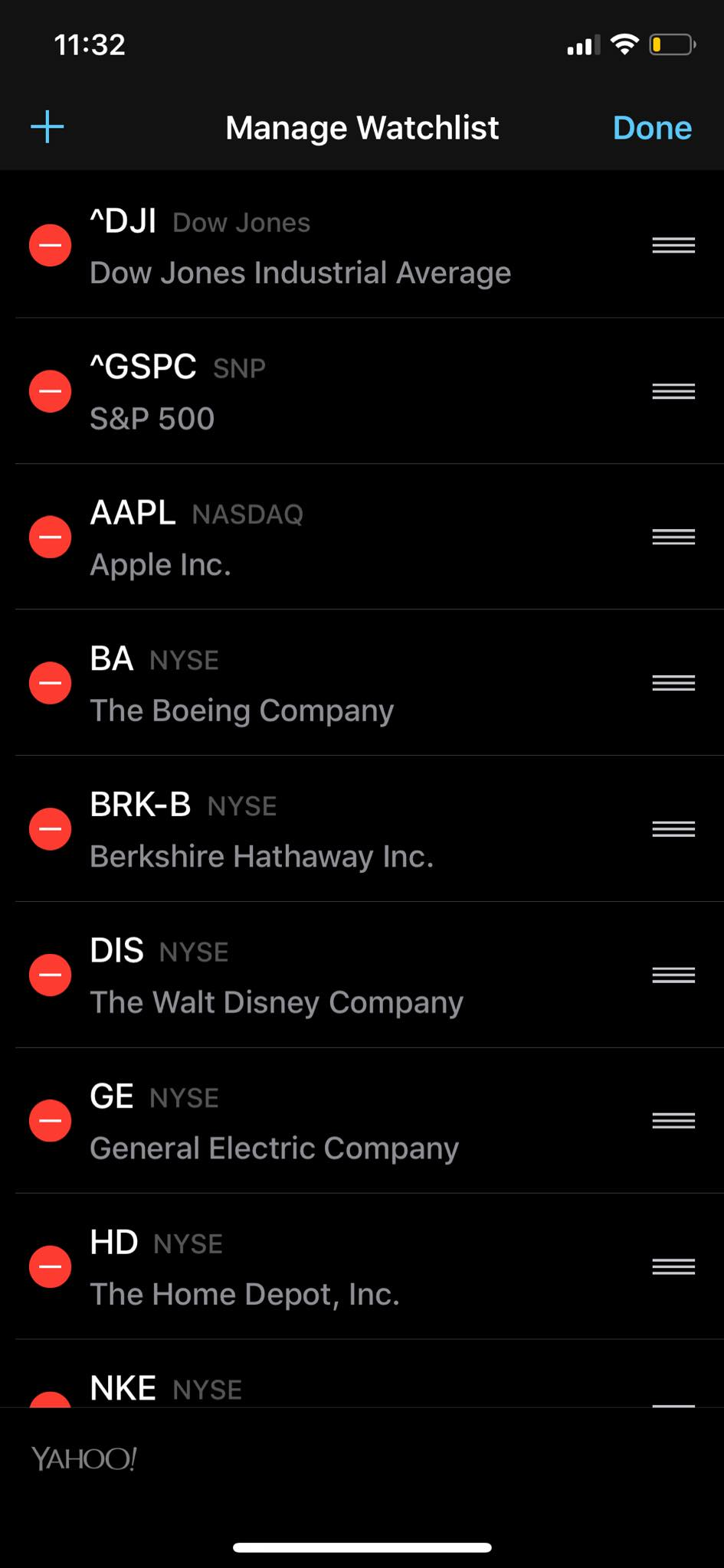 Watch List on iOS by Apple Stock from UIGarage