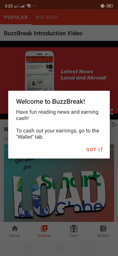 Welcome on Android by BuzzBreak from UIGarage
