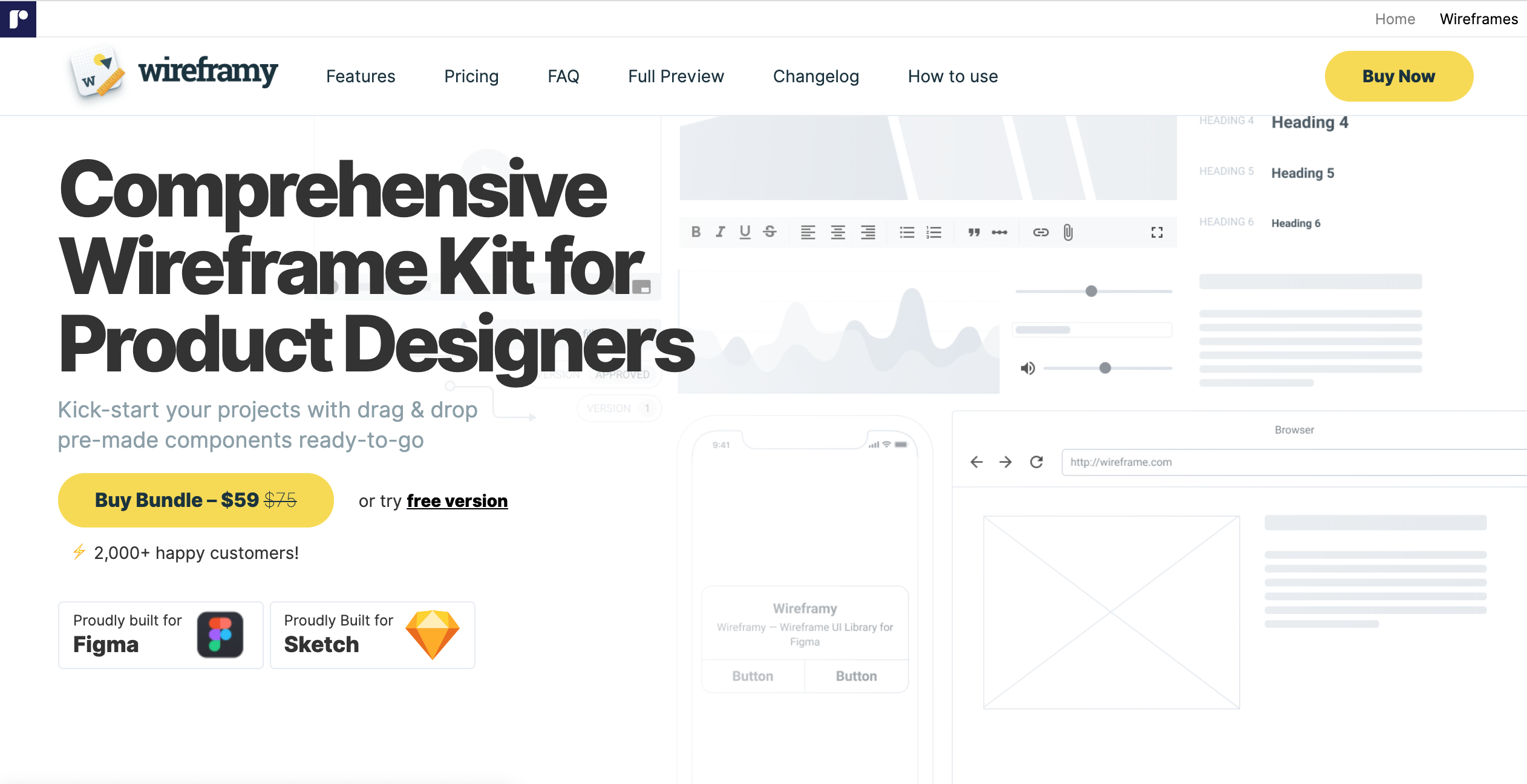 10 Best Wireframe Kit for Sketch/Figma/XD this 2020 from UIGarage