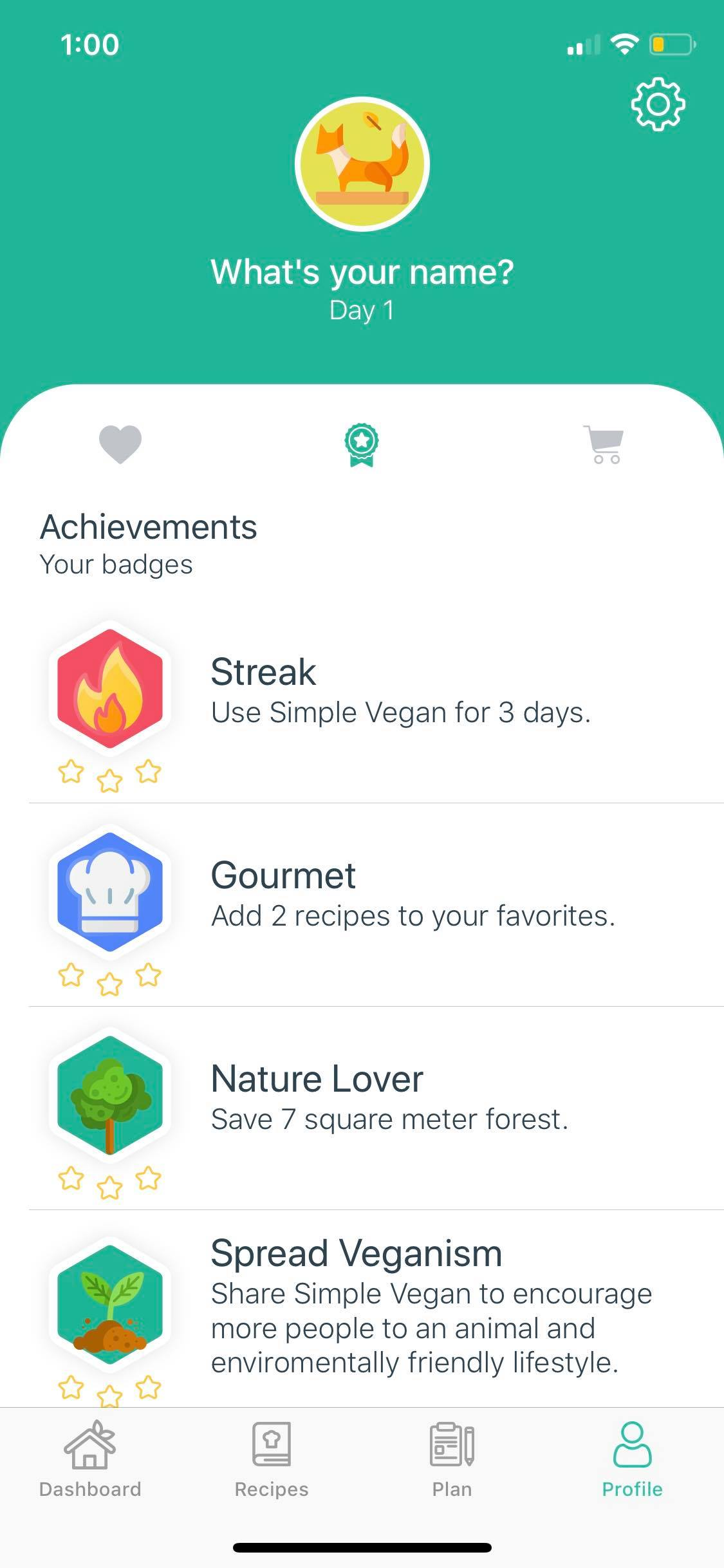 Achievements on iOS by Simple Vegan from UIGarage