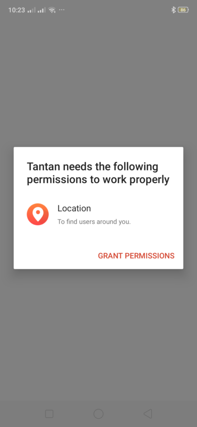 Grant Permission on Android by Tantan from UIGarage