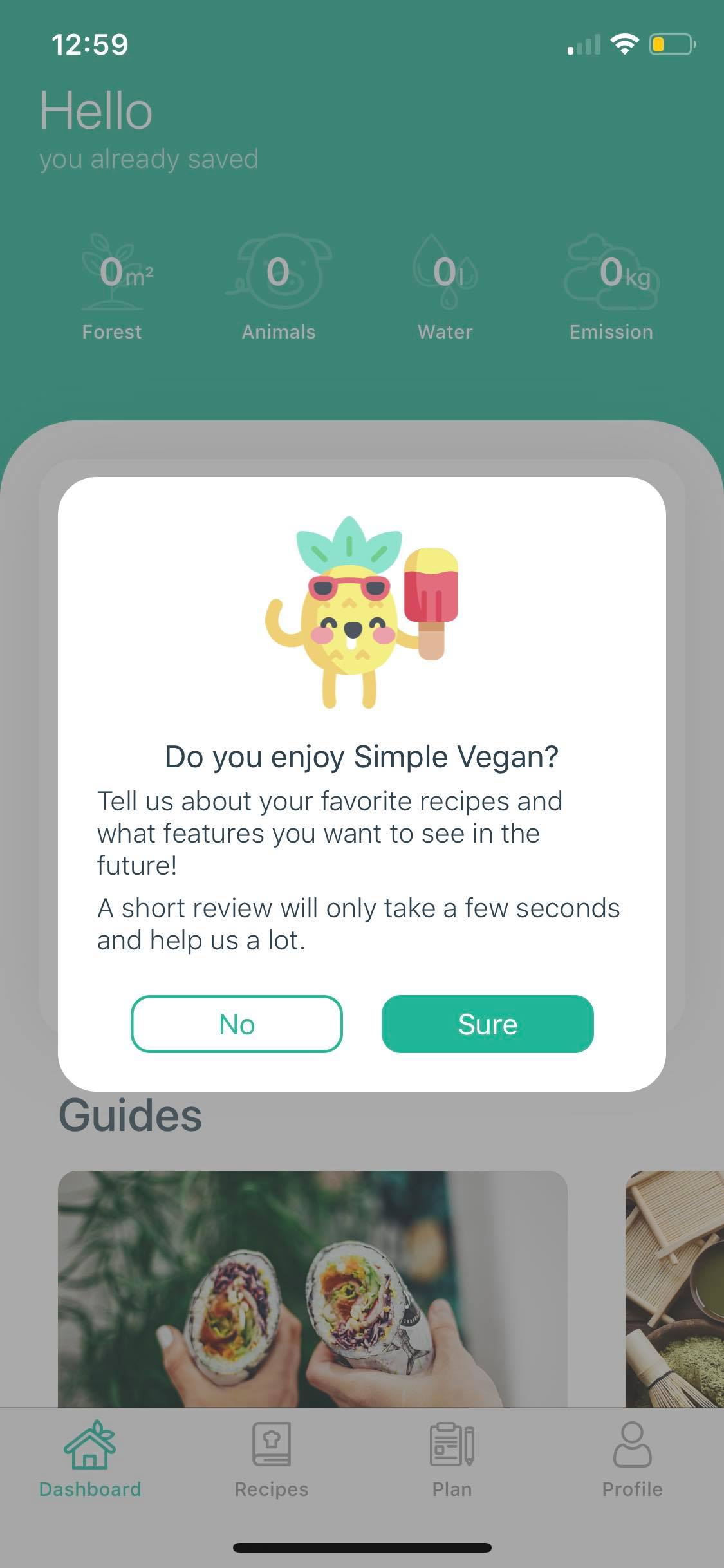 Alert on iOS by Simple Vegan from UIGarage