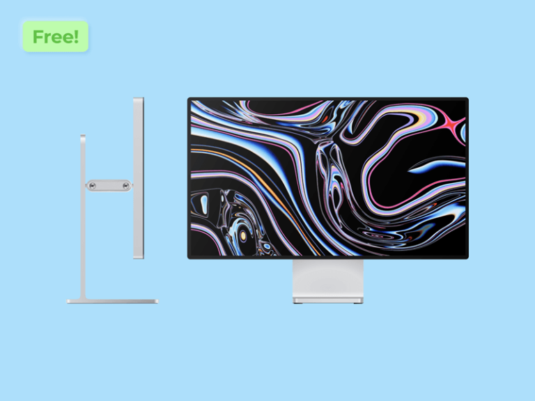 Apple Pro Display XDR Vector Mockup from UIGarage