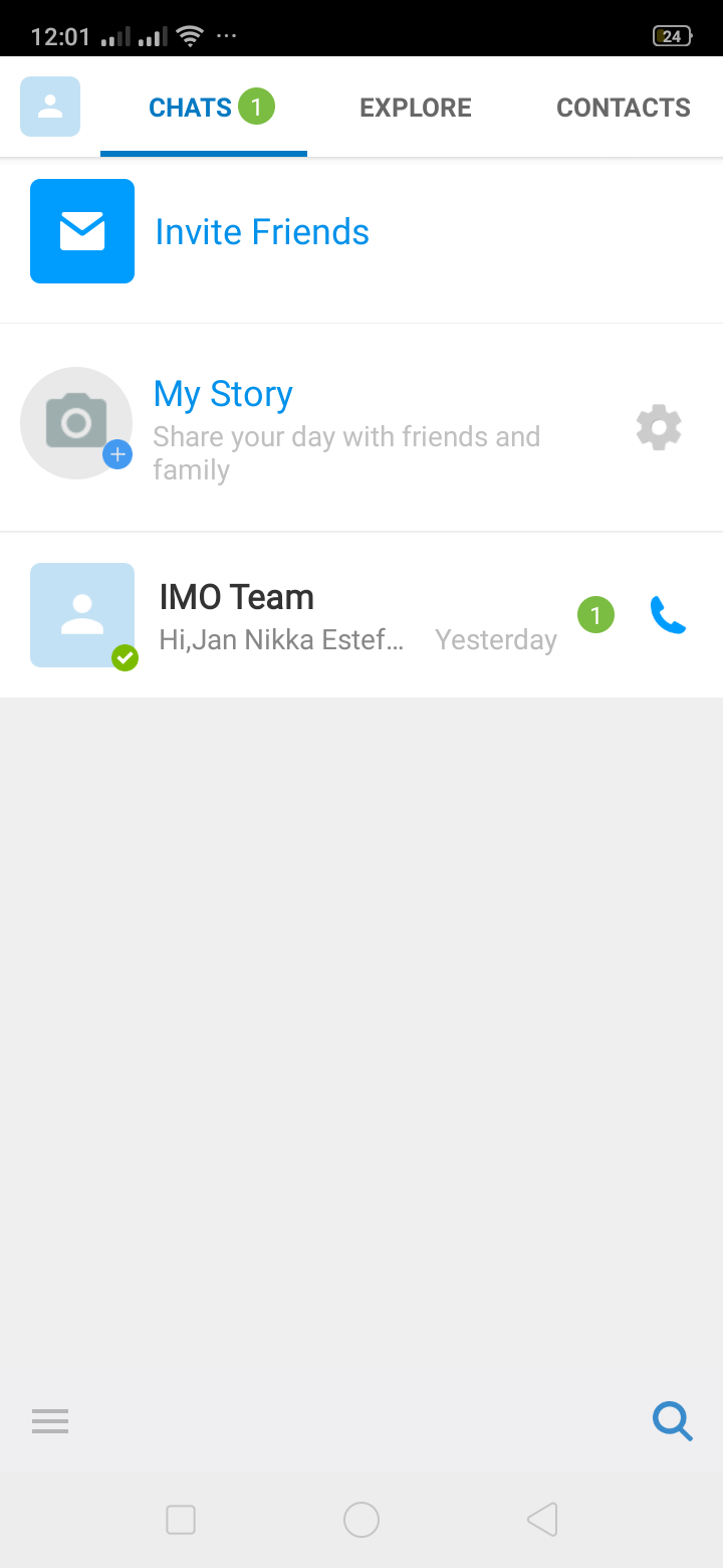 Chats on Android by IMO from UIGarage