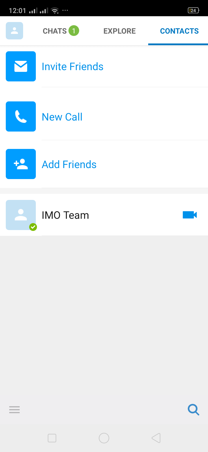 Contacts on Android by IMO from UIGarage