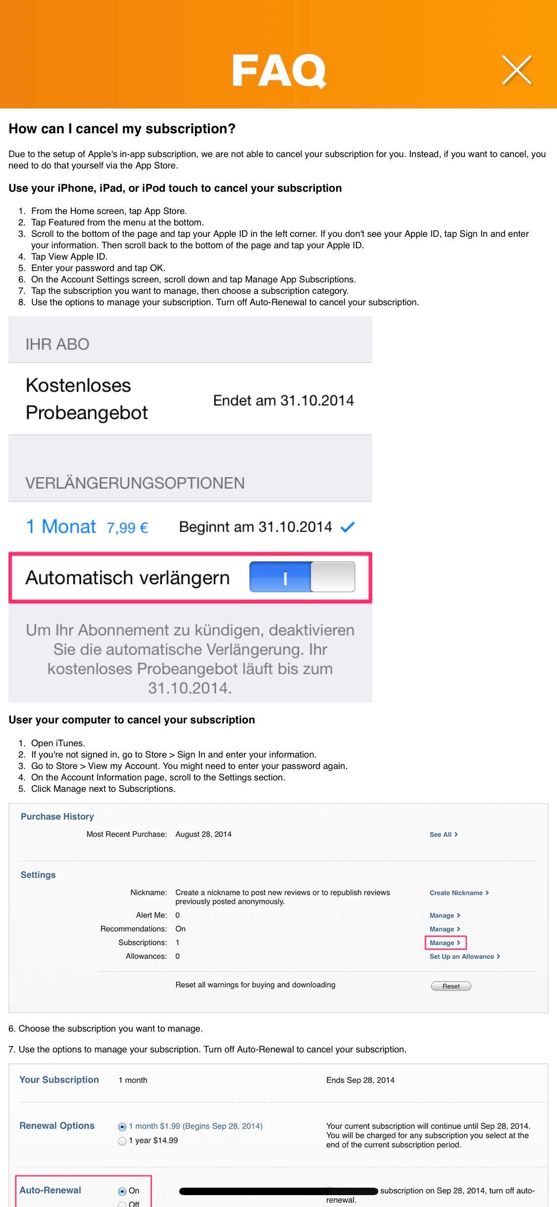 FAQ on iOS by Geist from UIGarage