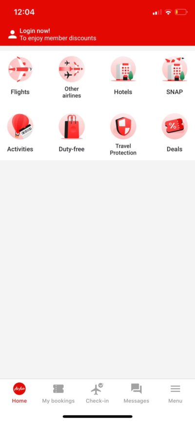 Home on iOS by AirAsia from UIGarage