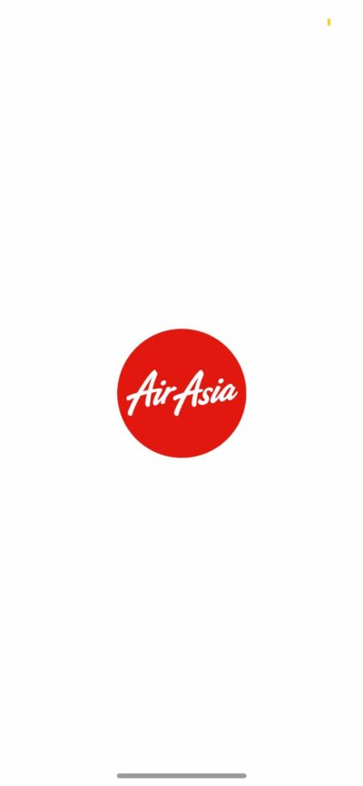 Launch Screen on iOS by AirAsia from UIGarage
