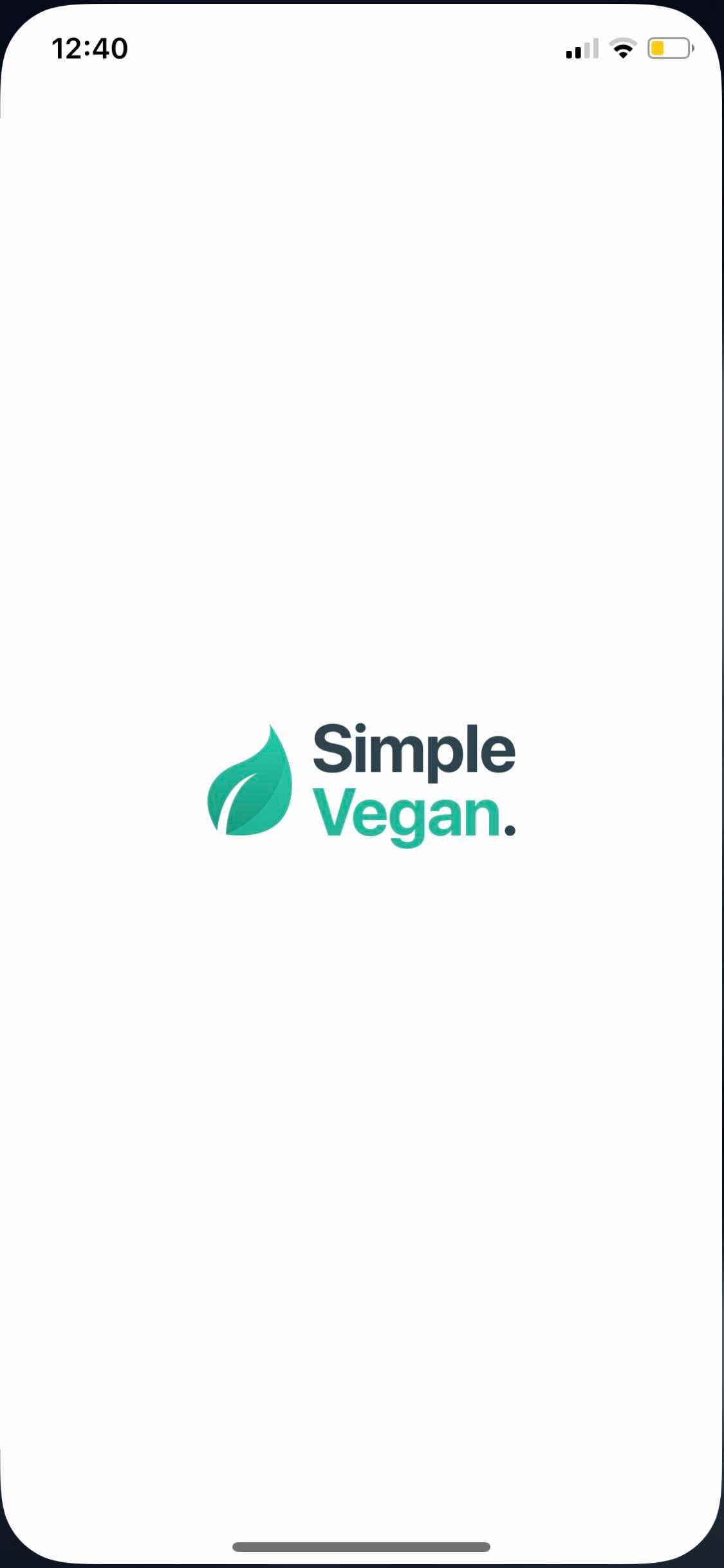 Launch Screen on iOS by Simple Vegan from UIGarage