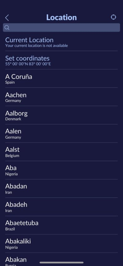 Location on iOS by Star Walk from UIGarage