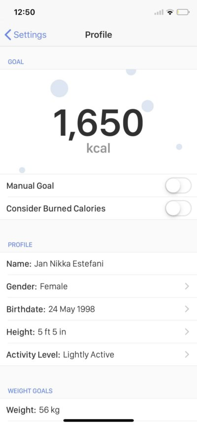 Profile on iOS by Calory from UIGarage