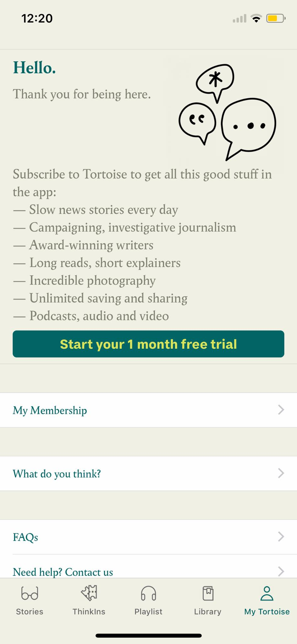 Subscription on iOS by Tortoise from UIGarage