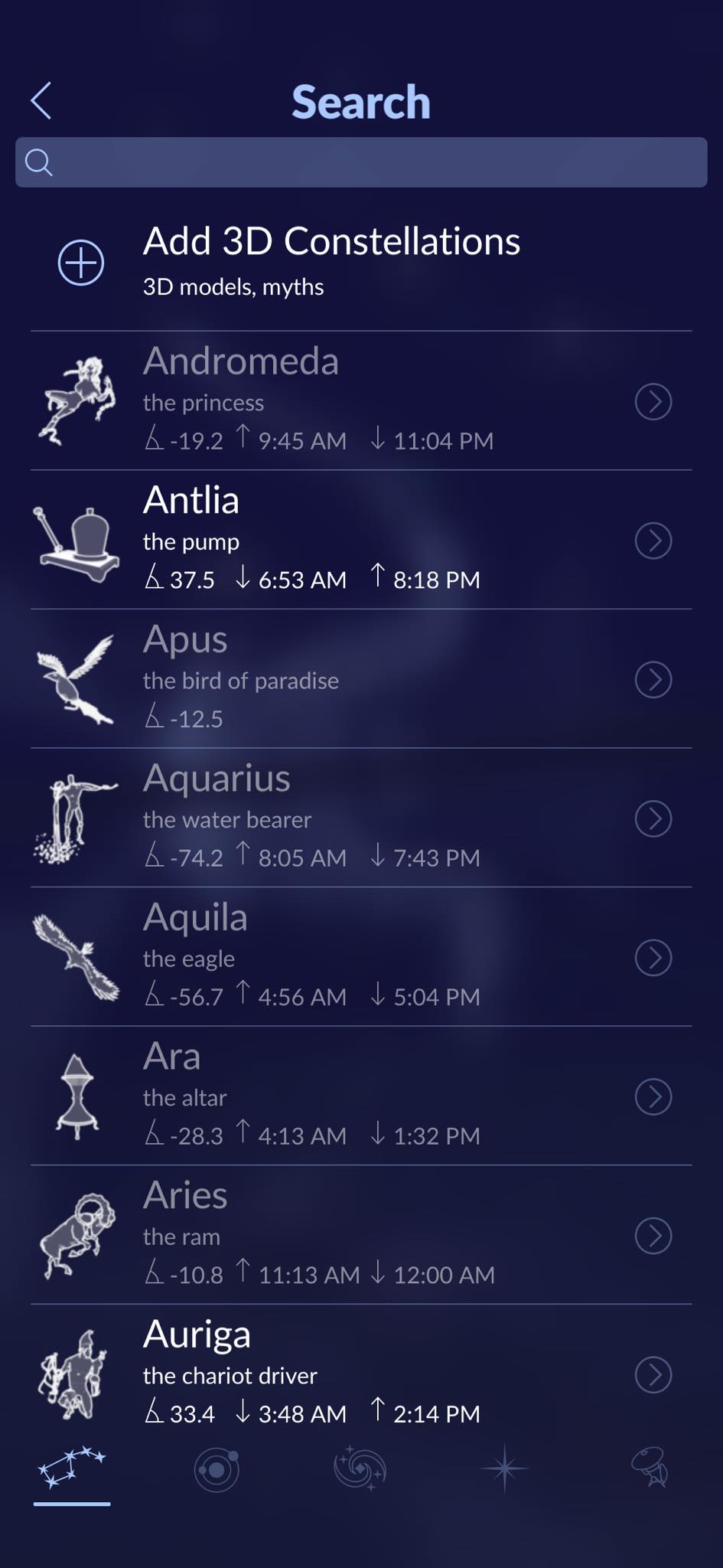 Search on iOS by Star Walk from UIGarage