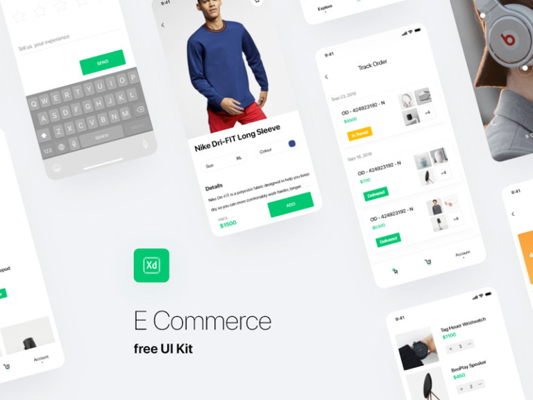 Shopping UI Kit for Adobe XD from UIGarage